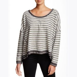 Free People Slouchy Striped Dolman Pullover